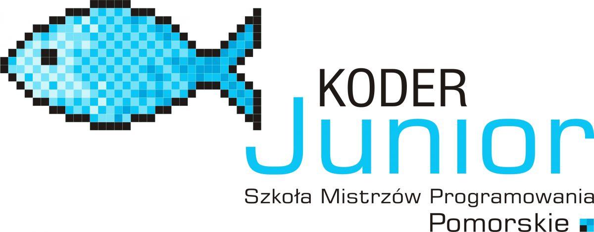 logotyp projektu Koder Junior Pomorskie - Szkoła Mistrzów Programowania