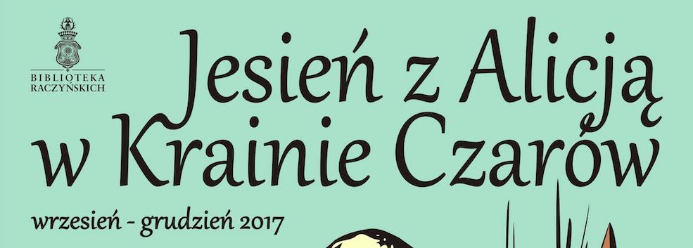 fragment plakatu promującego cykliczne wydarzenia prowadzone w Bibliotece Raczyńskich