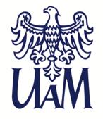 logotyp Uniwersytetu imienia Adama Mickiewicza w Poznaniu