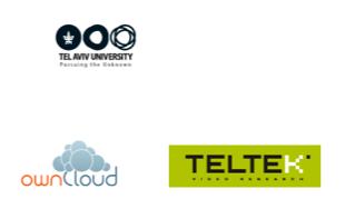 logotyp Tel Aviv University, logotyp OwnCloud, logotyp Teltek